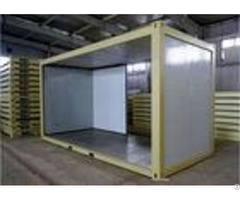 Yellow Flat Pack Modular Buildings Environmental Friendly With Single Side Aluminum Foil