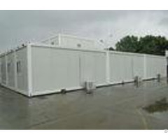 White Mobile Container Homes Environment Friendly Assembly 6000mm 2438mm 2896mm