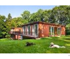 Well Equipped Custom Built Shipping Containers Red Color For Holiday Travel