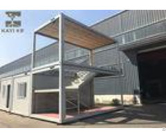 Optional Color Prefabricated Container House Customizable With Internal Staircase