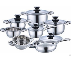 12pcs High Quality Stainless Steel Cookware Set With Induction Bottom