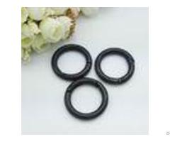 "Black Free Plated 1"" Metal Trigger Snap Clip Spring Gate O Ring For Handbag"