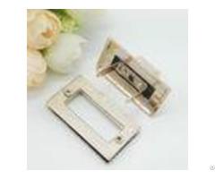 Light Gold Handbag Strap Hardware Metal Rotate Lock Rohs Certificate
