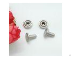 Nickel Plating Handbag Metal Hardware 15x8mm Double Cap Rivets For Leather
