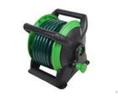 Garden Water Hose Reel Cart Customized Plastic Material Anti Abrasion