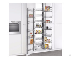 Multi-tier Kitchen Larder Unit With Single Door