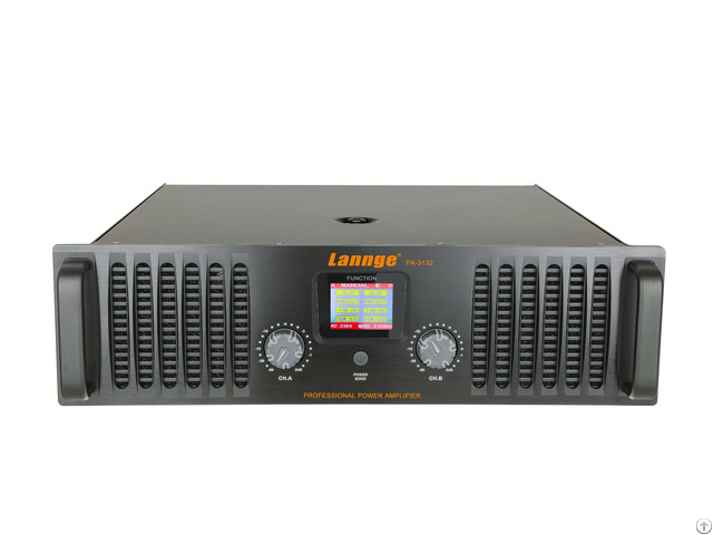 Pa 3132 3u Class H Professional Power Amplifier 2 1300w At 8 Honm