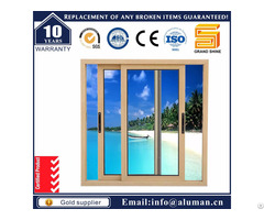Bronze Aluminium Aluminum Double Glazing Sliding Window