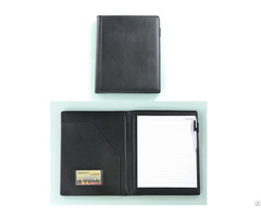 Pu Cover Portfolios With Card Pocket And Memo Pad