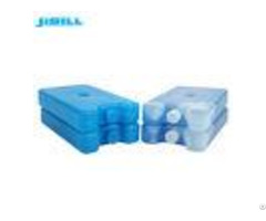 400g Food Grade Hdpe Plastic Fan Ice Pack Transparent White With Blue Liquid