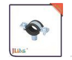 Durable Round Rubber Lined Pipe Clamps Mounting Bracket Environment Friendly