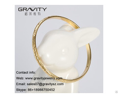 Shenzhen Gravity Hot Selling Free Shipping New Fashion Saudi 18 Carat Custom Fine Gold Bangle