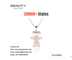 China Offer High Quality Non Fading Rose Gold Plated Girls Shape Necklace Jewelry