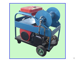 Gasoline Engine Sewage Cleaning Equipment High Pressure Water Jet Pipe Cleaner