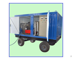 Power Plant Heat Exchanger Cleaner High Pressure Water Jet Cleaning Machine