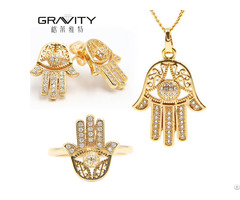 New Products Gold Jewelries 22k 3 In 1 Jewelry Set