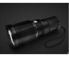 Heat Sink Rechargeable Led Security Flashlight 3000lm Waterproof 30w Power