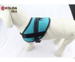 Size S M L Blue Reflective Nylon Dog Harness With Neoprene Lining
