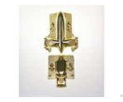Gold Plated Funeral Accessories Handle Parts Of A Casket Compact Structure