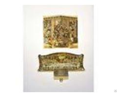 Last Supper Design Coffin Decoration Corner 9# 24k Gold Color Appearance