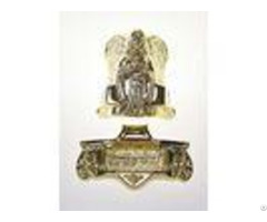 Angel Shaped Metal Casket Fitting 19# In Gold Plating Treatment Sgs Approved