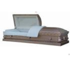 Silver Finish 20 Gauge Casket Pearl Crepe Interior With 11# Stationary Hardware