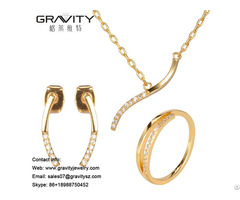 High Quality Wholesale 18 Carat Karat Gold Costume Jewelry Set