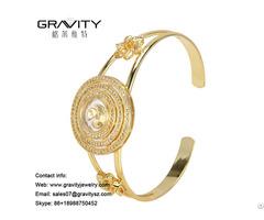Unique 2018 Gift Items Jewellery Dubai Brass 18k Gold Color Bangles And Bracelets