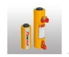 Double Action Hollow Hydraulic Cylinder Jack Heavy Duty Small Size Yellow Color