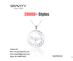 Wholesales Unique Design 18k White Gold Plated Eagle Shape Pendent Jewelry Necklace