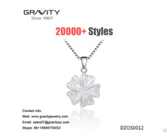 Crystal Female White Gold Pendant Chain Fashion Necklace Wholesale Price Set