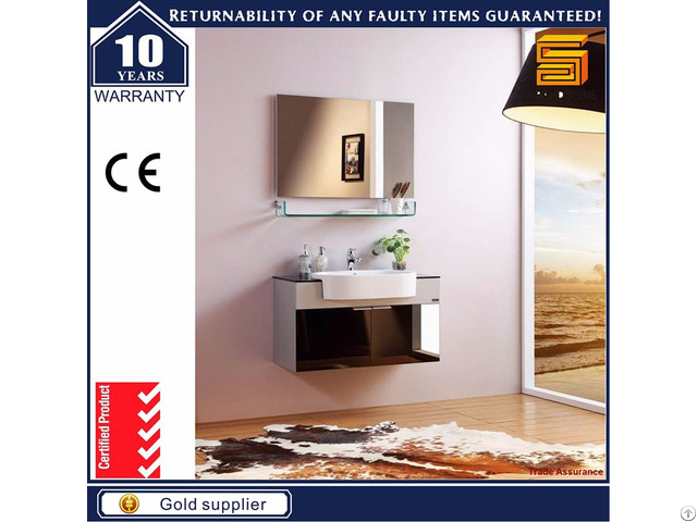 Modern Cheap Wall Mounted Plywood Vanity Bathroom Cabinet