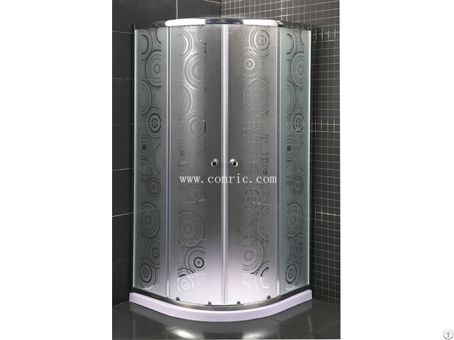 Sliding Door Shower Enclosure With Sector Tray