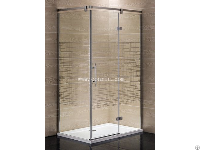 Hinge Shower Enclosure With Rectangle Tray