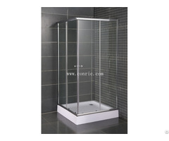 Simple Corner Shower Enclosure With Chrome Aluminum Profile
