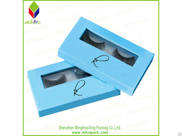 Cardboard Packing Eyelash Cosmetic Box