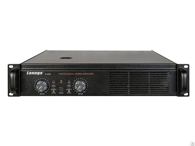 P 2400 2u Class Ab Professional Power Amplifier 2 400w At 8 Honm