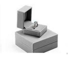 Hinge Wood Ring Jewelry Box Case Grey Gift Packaging Custom Luxury Handmade
