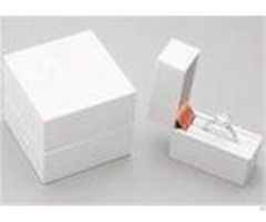 White Elegant Ring Jewelry Box For Necklace Bracelet Watch Jewellery Gift Packaging