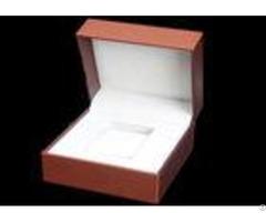Pu Leather Women Watch Box With Stitching Custom Logo Luxury Waterproof Velvet