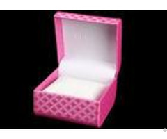 Pink Colorful Women Watch Box Plastic Covered Full Color Offset Printing