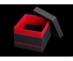 Black And Red Paper Watch Box Cardboard Covered Gift Packaging Custom Logo
