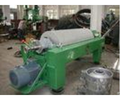 Antifriction Horizontal Decanter Centrifuge Anticorrosion Stainless Helical Pusher
