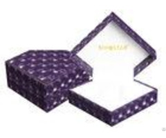 Custom Luxury Handmade Single Watch Box Purple Durable Presentation Gift