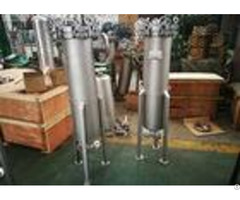 Spring Type Pressure Industrial Bag Filters Small Occupancy For Sweet Water