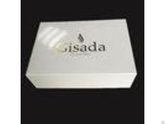 Hot Stamping Logo Custom White Paper Gift Box Glitter With Lid Perfume Bottle
