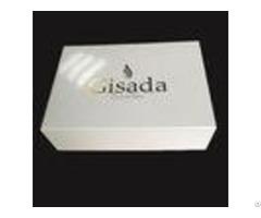 Hot Stamping Logo Custom White Paper Gift Box Glitter With Lid Perfume Bottle