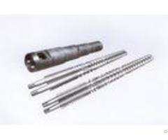Custom Types Plastic Extrusion Screw Extruder Machine Parts 0 6 0 8mm Nitriding Depth