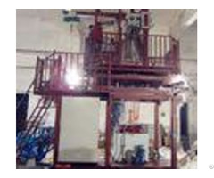 Two Layers Blown Film Plant With Double Station Wing Machine 90 110kg H Output