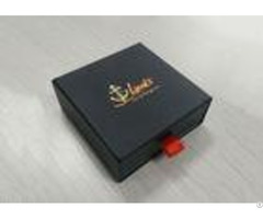 Sliding Black Paper Paperboard Gift Boxes Eco Friendly Fashion Design